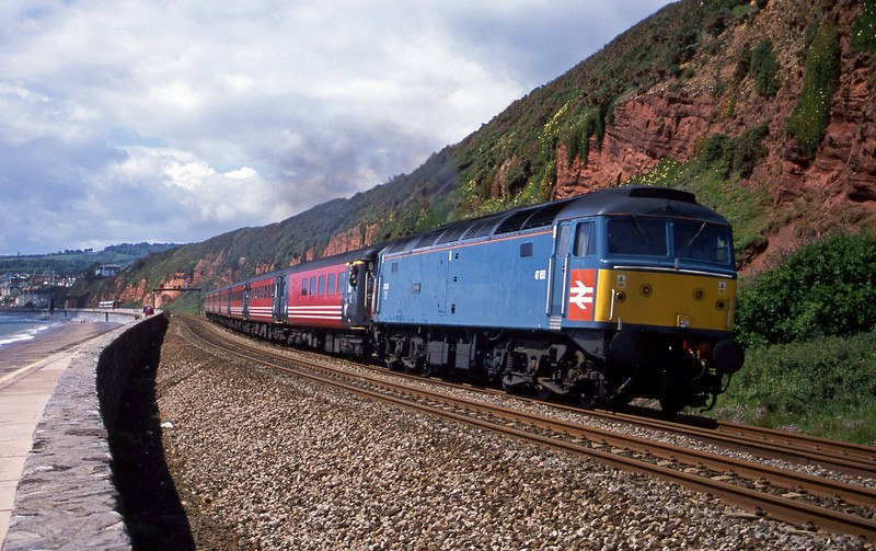47853, 08.48 Penzance-Manchester Piccadilly, Dawlish, 29-5-02. 159018, 11.52 Exeter Central-Paignton.