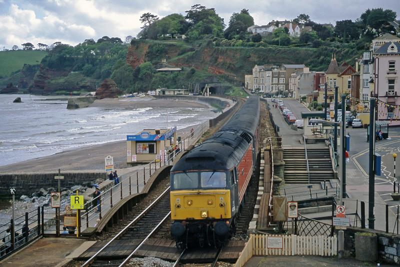 47818, 15.55 Plymouth-Leeds, Dawlish, 14-5-02.