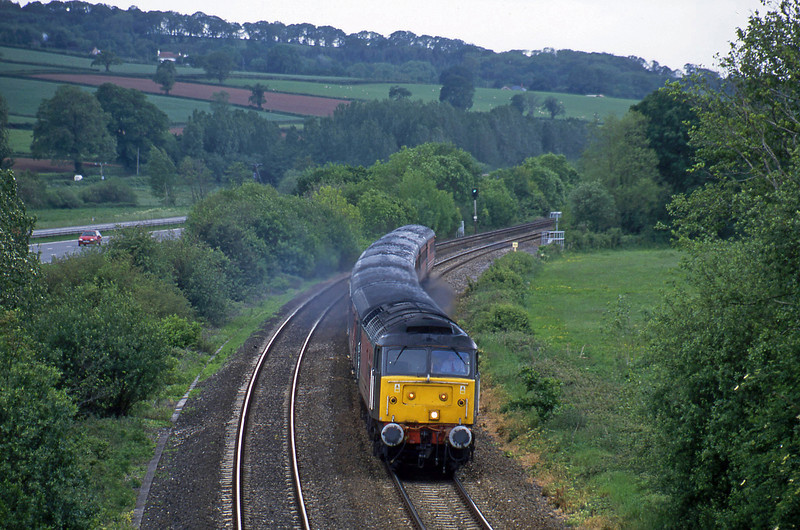 47828, 11.50 Plymouth-Liverpool Lime Street, Westcott, near Cullompton, 28-5-02.