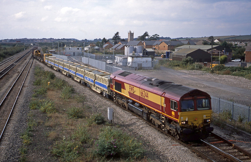 66244, up departmental, Severn Tunnel Junction, 9-10-02.
