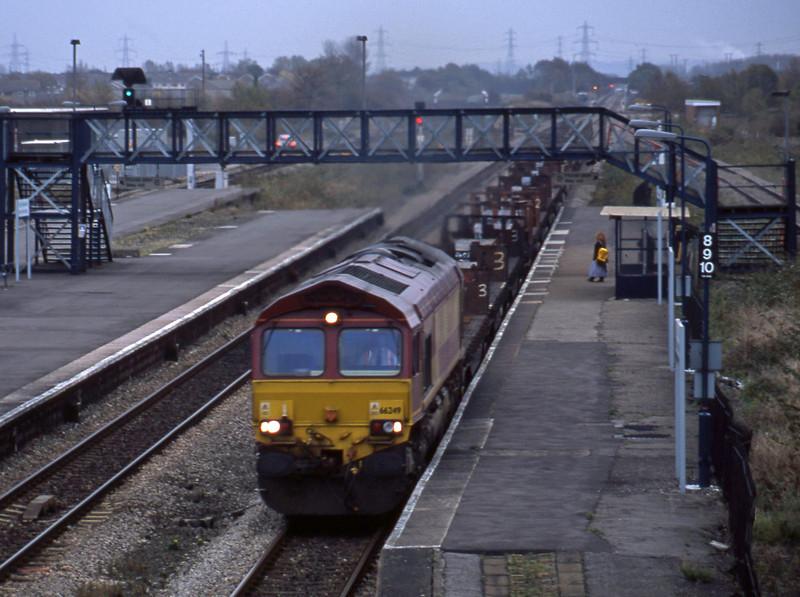 66249, down steel, Severn Tunnel Junction, 29-10-02.