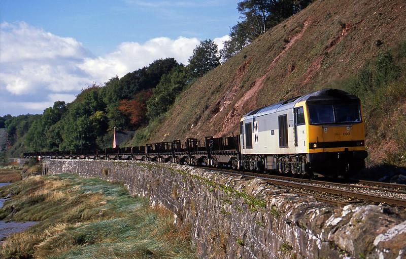 60090, 11.30 Llanwern-Lackenby, Gatcombe, near Lydney, 6-10-02.