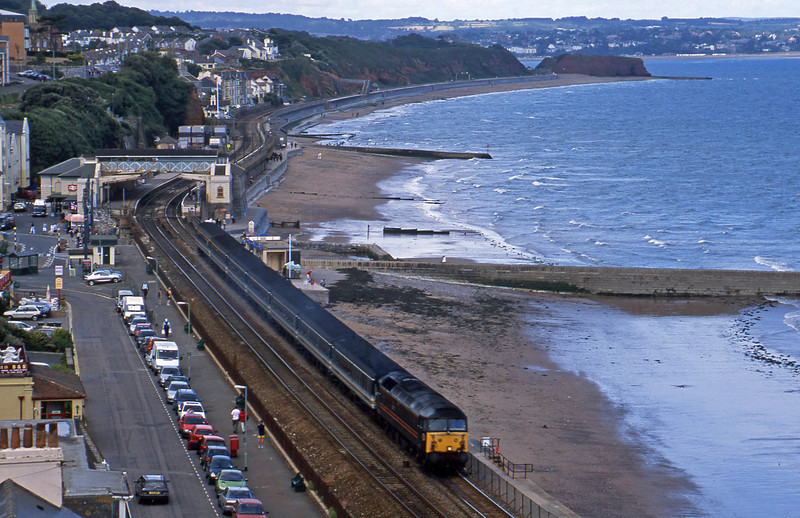 47703, 12.15 London Paddington-Penzance, Dawlish, 8-9-02.