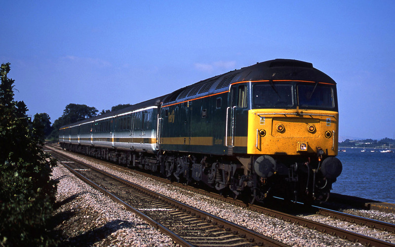 47832, 12.33 London Paddington-Plymouth, Powderham, near Starcross, 2-9-02.