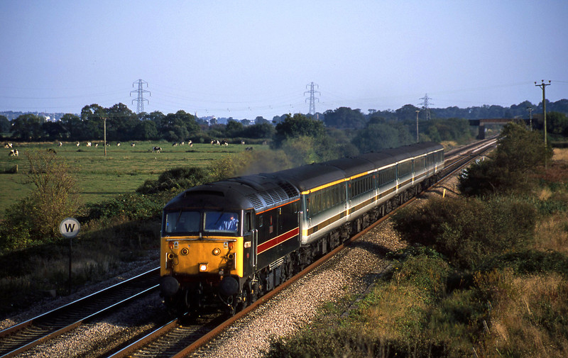 47703, 16.38 Plymouth-London Paddington, Exminster, near Exeter, 16-9-02.