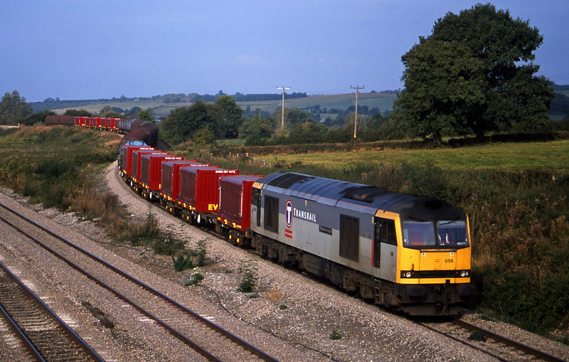 60056, diverted 10.05 Llanwern-Dee Marsh, Llandevenny, near Llanwern, 22-9-02.