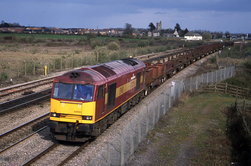 60003, 10.10 Corby-Margam, Severn Tunnel Junction, 1-4-03.