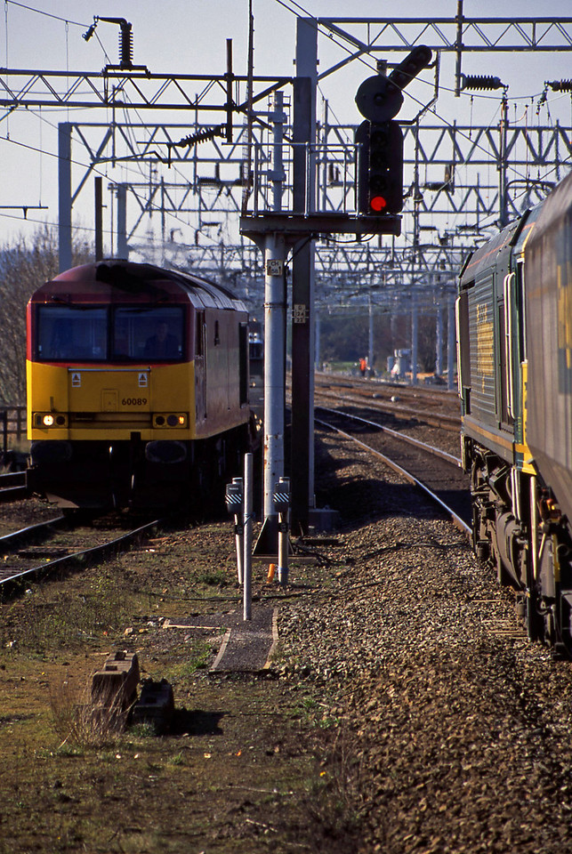 66547, 10.15 Immingham-Rugeley Power Station, 60089, 12.44 Longport-Bescot, Rugeley Trent Valley, 8-4-03.
