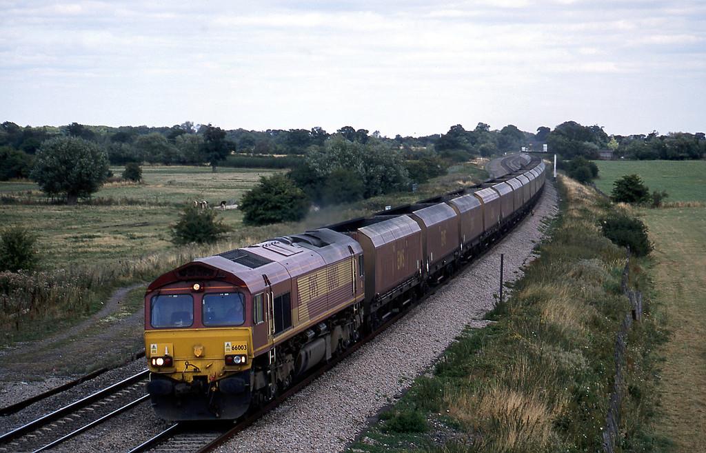 66003, Didcot Power Station-Avonmouth Bulk Handling Terminal, Shrivenham, near Swindon, 21-8-03.