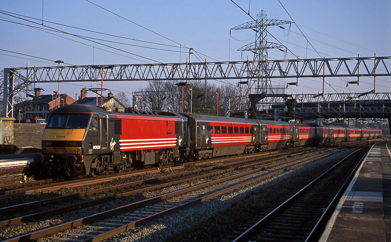 82108/90001, up passenger, Stafford, 18-2-03.