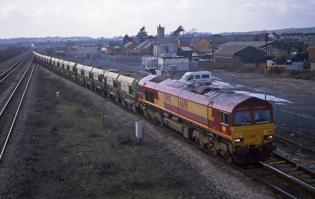 66191, up stone empties, Severn Tunnel Junction, 4-2-03.