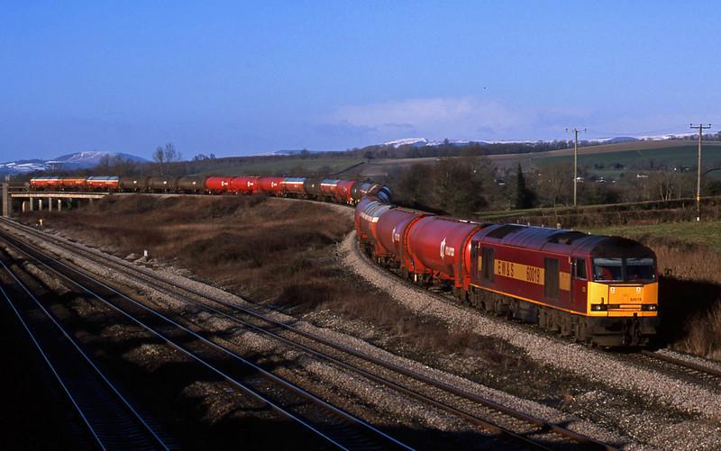 60019, 05.36 Robeston-Westerleigh, Llandevenny, near Llanwern, 4-2-03.