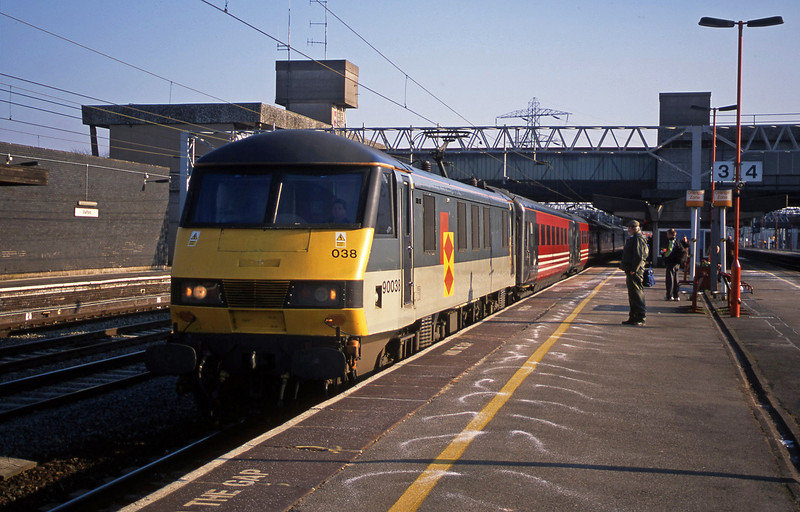90038, London Euston-Liverpool Lime Street, Stafford, 18-2-03. 18-2-03.