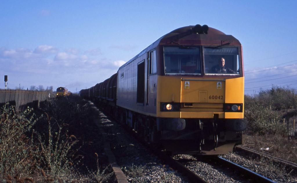 60042, 09.55 Round Oak-Margam, Severn Tunnel Junction, 29-1-03; 60021, 10.15 Westbury Yard-Newport Alexandra Dock Junction Yard.