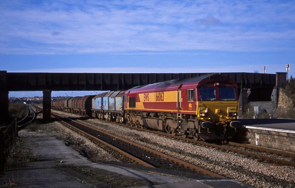 66063, 10.31 Llanwern-Round OaK, Severn Tunnel Junction, 29-1-03.