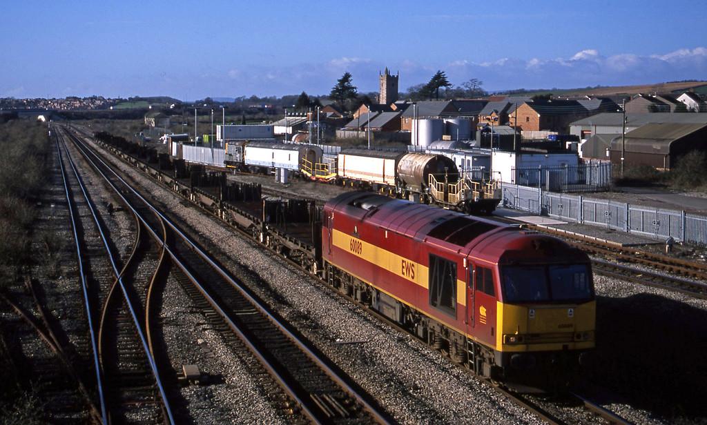60089, 12.25 Llanwern-Lackenby, Severn Tunnel Junction, 29-1-03.