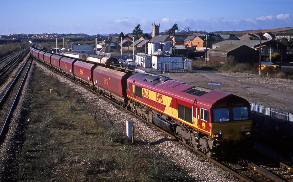 66138, Aberthaw Power Station-Avonmouth Bulk Handling Terminal, Severn Tunnel Junction, 29-1-03.