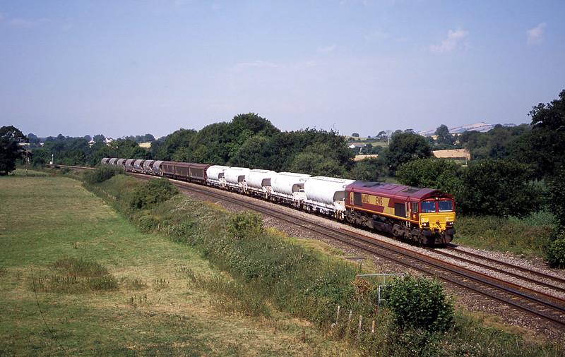 66023, 10.15 Exeter Riverside Yard-Dollands Moor, Silverton, near Exeter, 14-7-03.