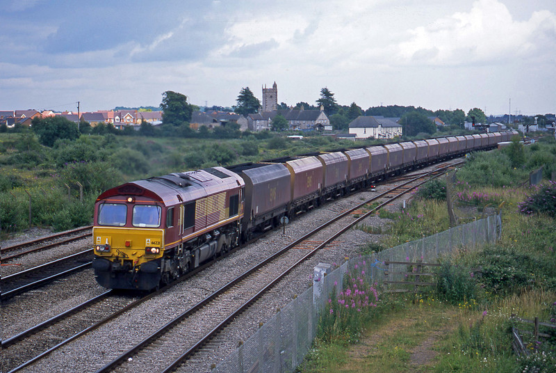 66221, Avonmouth Bulk Handling Terminal-Aberthaw Power Station, Severn Tunnel Junction, 1-7-03.