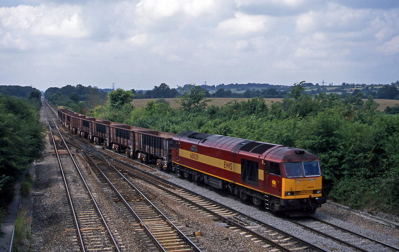 60029, 13.05 Merehead Quarry-Purfleet, Fairwood Junction, Westbury, 9-7-03.