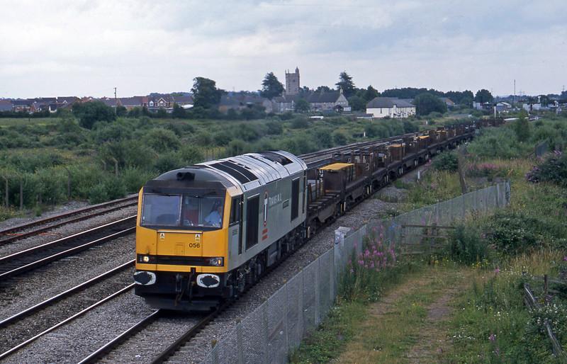 60056, 06.02 Lackenby Llanwern, Severn Tunnel Junction, 1-7-03.