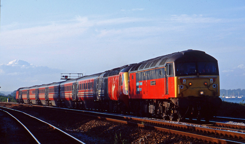 47784, 43103/43121, 11.30 Edinburgh-Penzance, Dawlish Warren, 2-6-03.