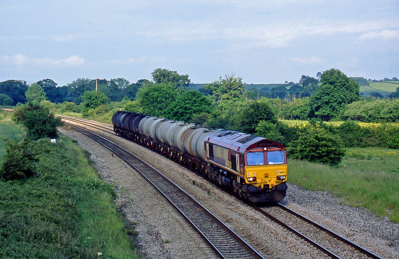 66017, 13.34 Fawley-Plymouth Tavistock Junction, Creech St Michael, near Taunton, 6-6-03.