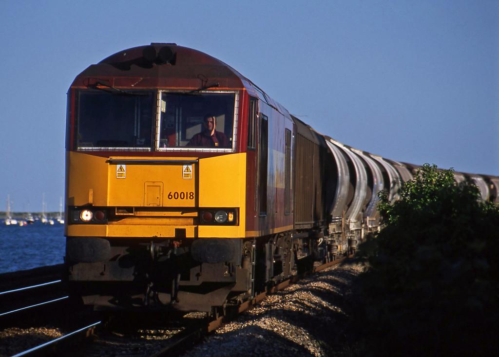 60018, Burngullow-Cliffe Vale, Powderham, near Exeter, 12-6-03.