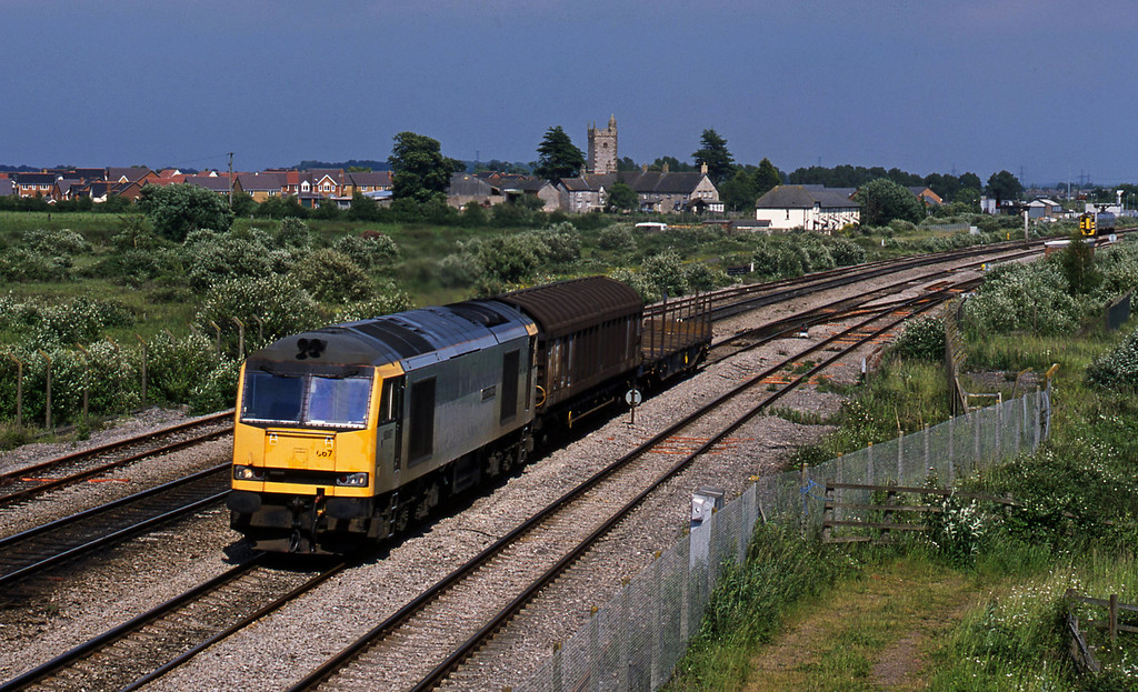 60067, 12.46 Bridgwater-Newport Alexandra Dock Junction, Severn Tunnel Junction, 17-6-03.