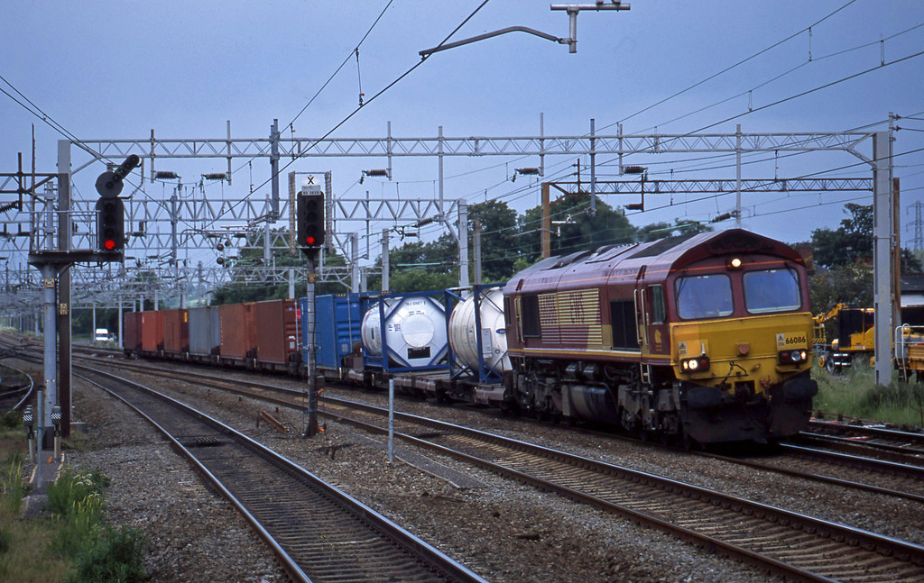 66086, 12.23 Warrington-, Rugeley Trent Valley, 10-6-03.