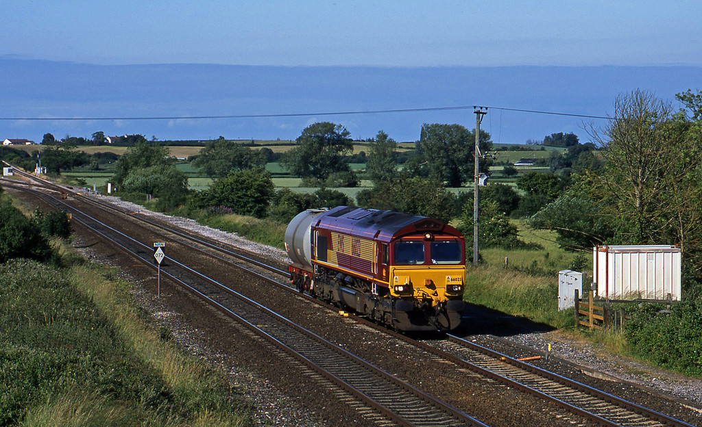 66023, 12.01 Westbury-Plymouth Tavistock Junction, Cogload, 23-6-03.