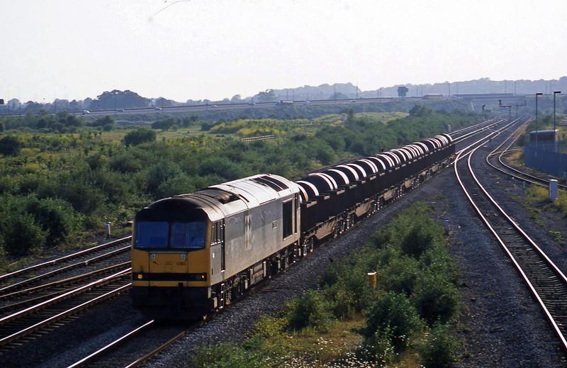 60090, 17.38 Margam-Hartlepool, Severn Tunnel Junction,  17-6-03.