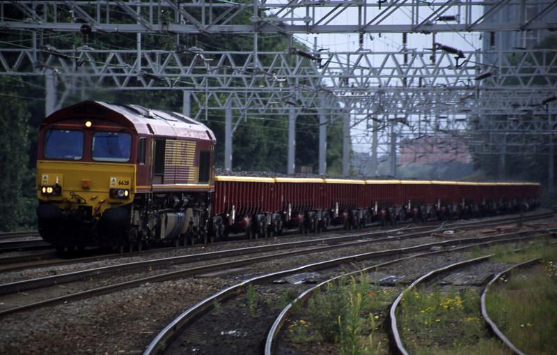 66211, down ballast, Rugeley Trent Valley, 10-6-03.