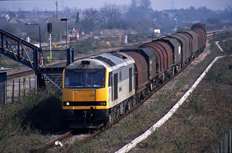 60077, 09.55 Round Oak-Margam, Severn Tunnel Junction, 26-3-03.