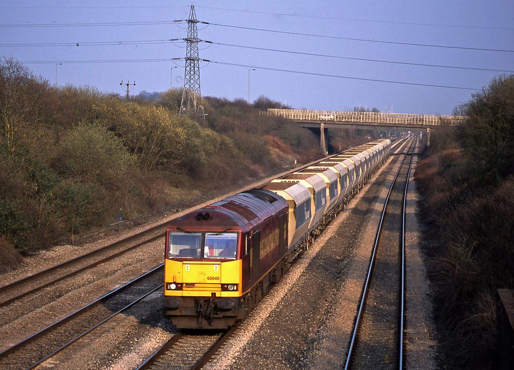 60040, 15.12 Westbury-Towe Colliery, Llandevenny, near Llanwern, 26-3-03.