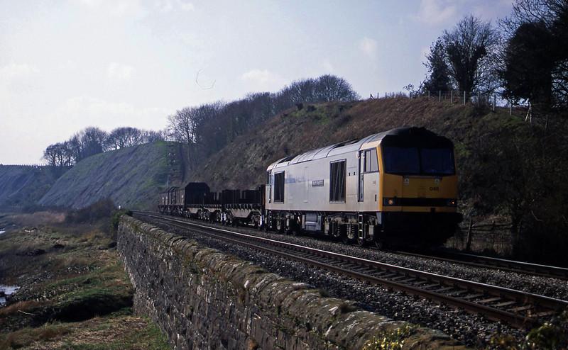60046, 12.45 Llanwern-Lackenby, Gatcombe, near Lydney, 21-3-03.