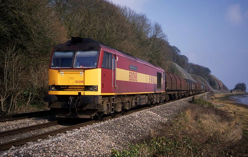 60098. 09.55 Round Oak-Margam, Gatcombe, near Lydney, 21-3-03.