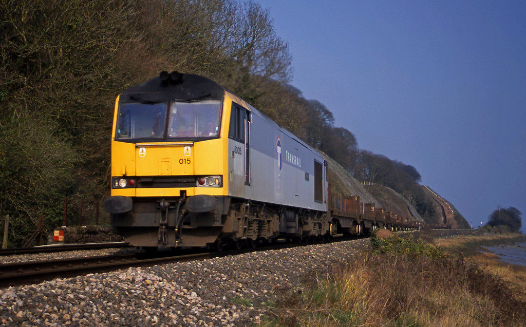 60015, 06.02 Lackenby-Llanwern, Gatcombe, near Lydney, 25-3-03.