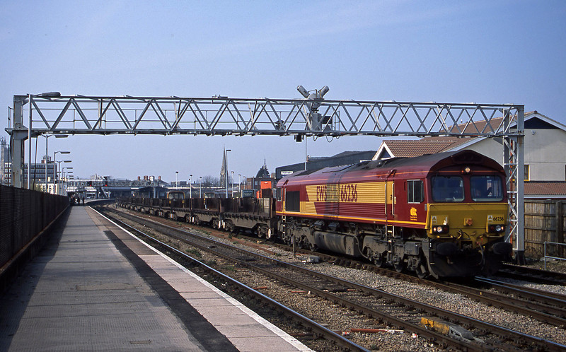 66236, 10.52 Margam-Lackenby, departs Gloucester, 27-3-03.