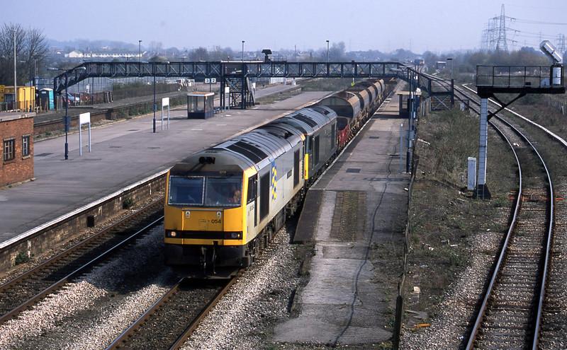 60054/60081, 10.15 Westbury-Newport Alexandra Dock Junction, Severn Tunnel Junction, 26-3-03.