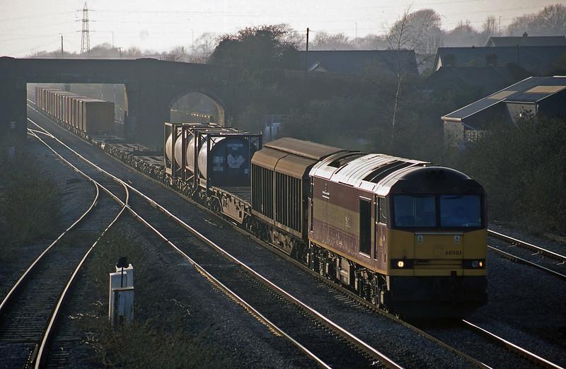 60003, 16.38 Newport Alexandra Dock Junction-Wembley, Magor, 19-3-03.