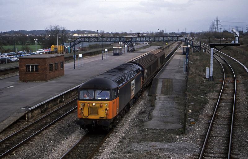56111, 13.05 Bridgwater-Newport Alexandra Dock Junction, Severn Tunnel Junction, 11-3-03.
