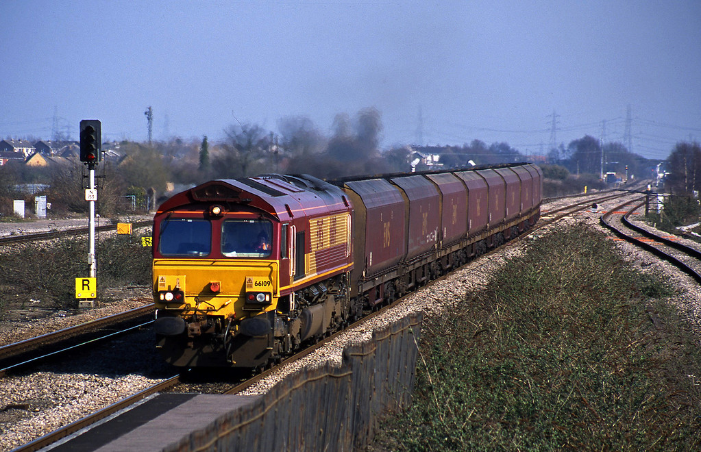 66109, Avonmouth Bulk Handling Terminal-Aberthaw Power Station, Severn Tunnel Junction, 19-3-03.