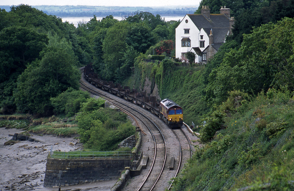 Unidentified Class 66, 10.52 Margam-Lackenby, Purton, near Lydney, 13-5-03.