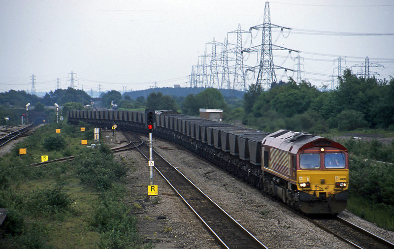 66130, 16.29 Westbury-Margam, Severn Tunnel Junction, 28-5-03.