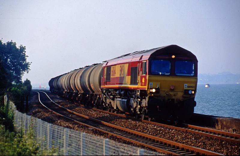 66064, 13.34 Fawley-Plymouth Tavistock Junction, Starcross, 30-5-03.
