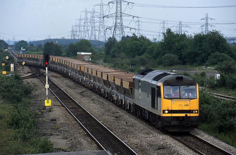 60090, 17.23 Westbury-Grange Sidings, Severn Tunnel Junction, 28-5-03.