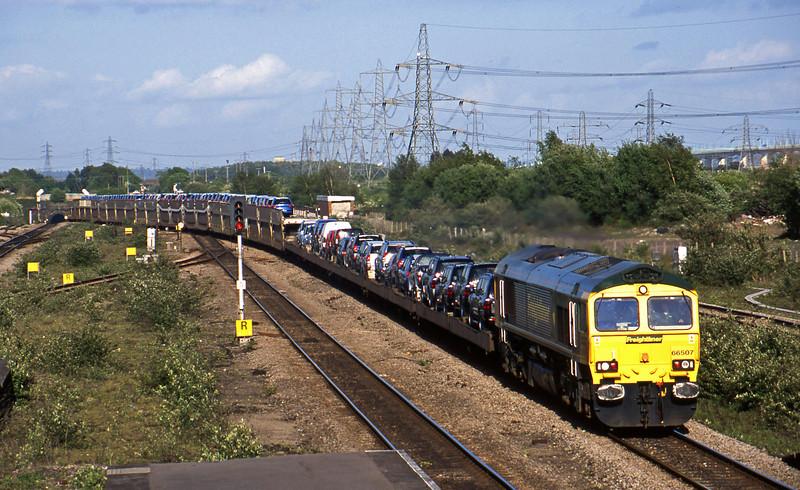 66507, 15.41 Portbury Car Terminal-Mossend Euroterminal, Severn Tunnel Junction, 6-5-03.