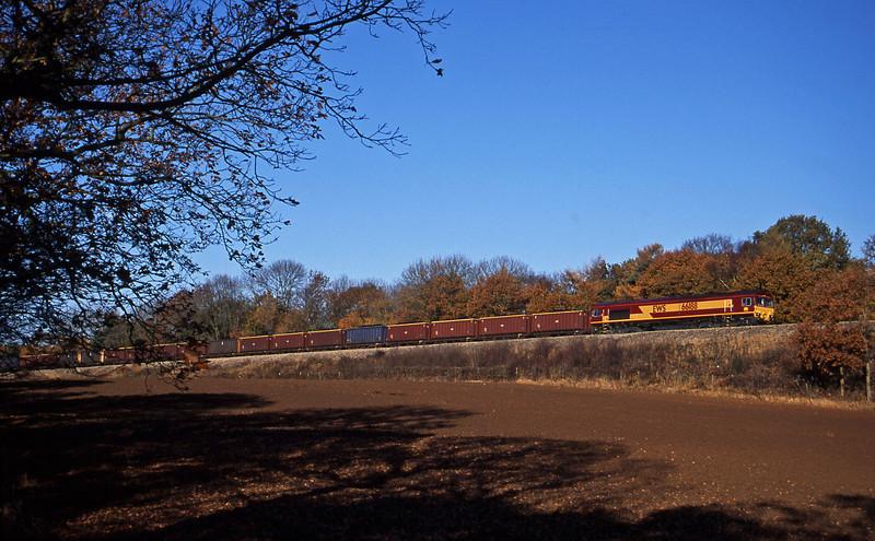 66188, Avonmouth Bennett's Siding-Rugby, Coalpit Heath, near Bristol, 12-11-03.
