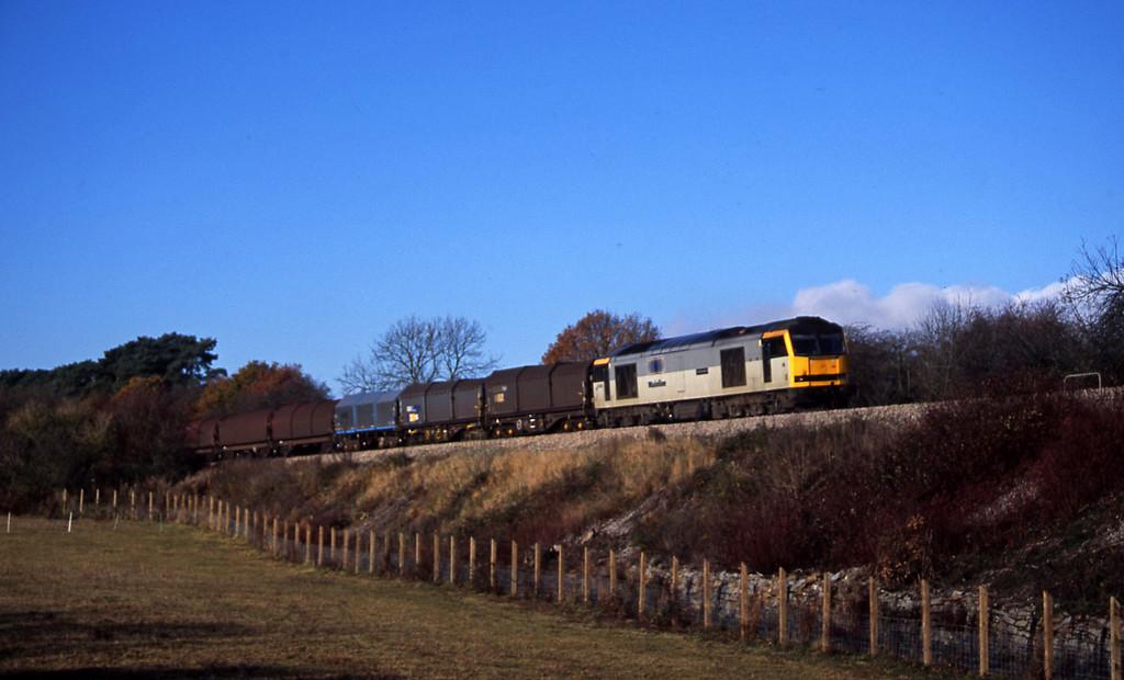 60086, 10.40 Llanwern-Round Oak, diverted, Coalpit Heath, near Bristol, 12-11-03.